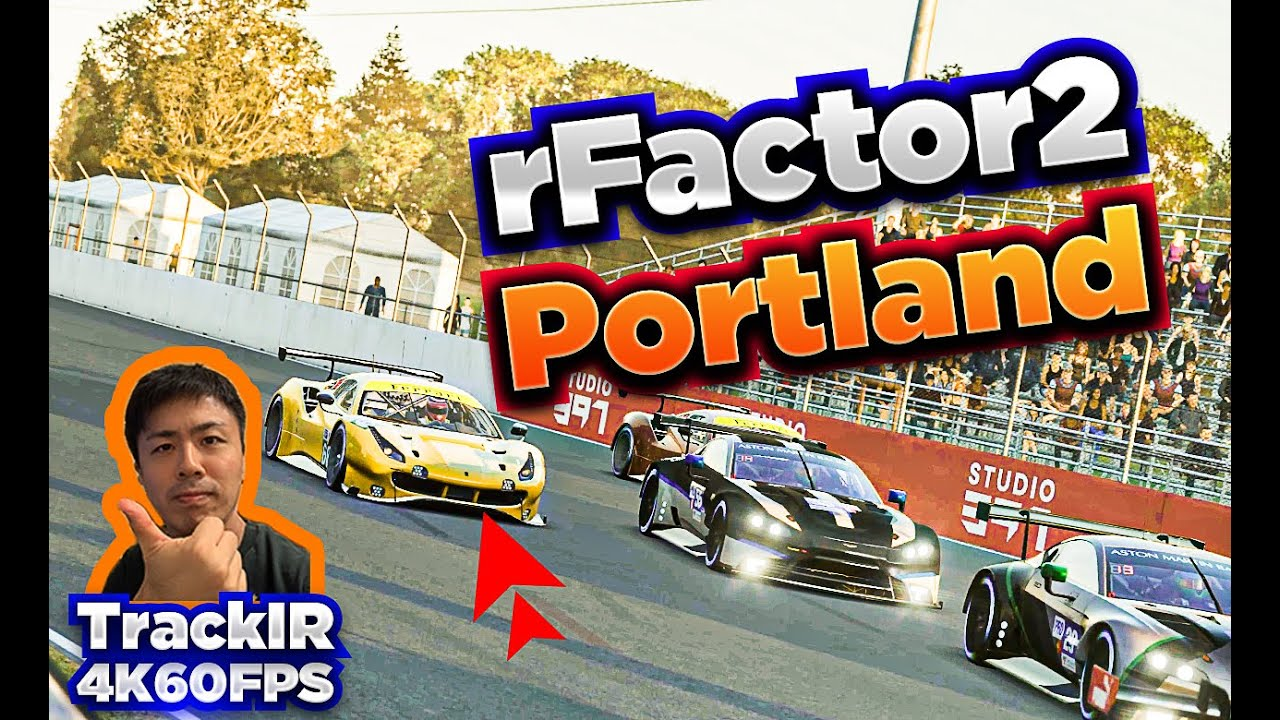 Ken Racing: Driving updated Portland for rFactor 2