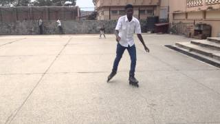 Bolu's Chris Brown skating tricks