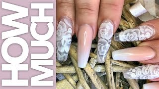 How Much - Encapsulated 3D Flowers - Acrylic Nails