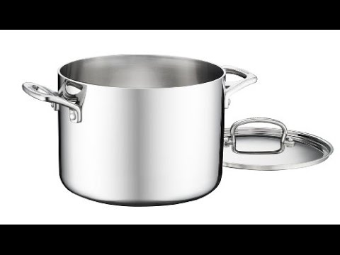cuisinart fct66 22 french classic tri ply stainless 6 quart stockpot with cover