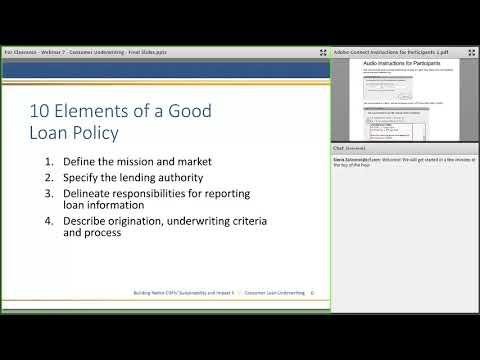 Consumer Loan Underwriting Recording - YouTube