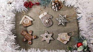 Новогодние украшения на ёлку.Рецепт пряничного ароматного теста для поделок.Сушка изделий.DIY.