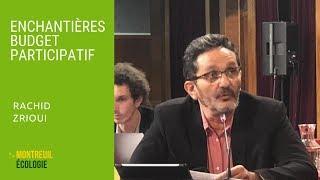 Enchantières, budget participatif : Rachid Zrioui CM 03/10/2018