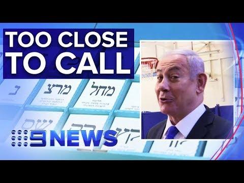 Future of Israeli PM Benjamin Netanyahu unclear in tight election | Nine News Australia