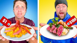$1 vs $100 COOK OFF! *Dollar Store Budget Cooking Challenge*