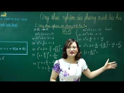 Toán lớp 9–Bài giảng Công thức nghiệm phương trình bậc hai