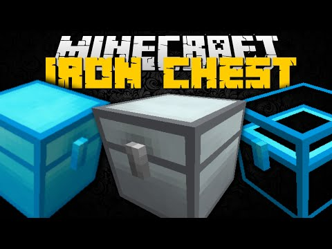 Minecraft: IRON CHEST MOD (OBSIDIAN CHEST, SILVER CHEST & TROLL CHEST) Mod Showcase