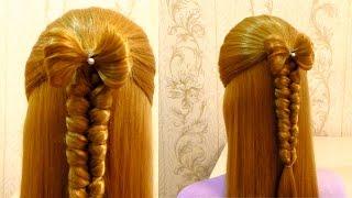 Простая прическа в школу с плетением на каждый день 💫 Косы💫 Easy school hairstyle