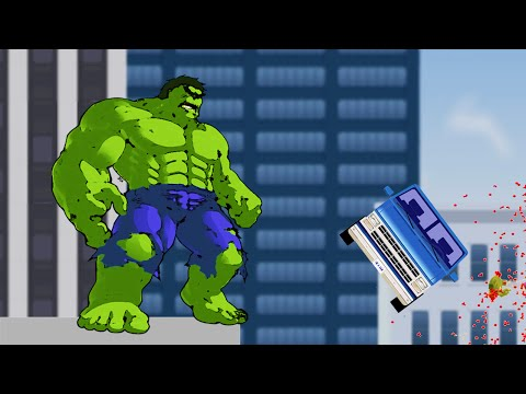 PLAYING AS THE HULK! (Happy Wheels #26)