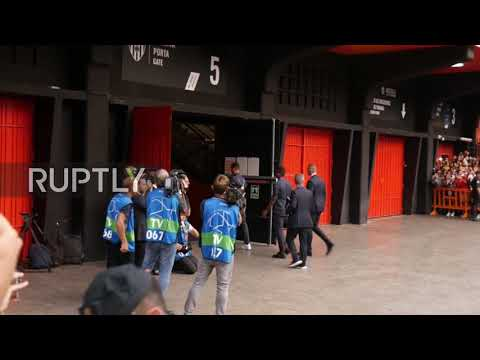 Spain: Cristiano Ronaldo arrives for UCL debut against Valencia