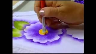 Pintura em Tecido: Estamparia de Flores