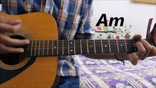 Jaana Ve - Arijit Singh - Guitar Cover Lesson Chords Hindi - Aksar 2 , Mithoon
