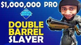 DOUBLE BARREL DEFENSIVE PLAYER SLAYER | PRO GAME SCRIM WINTER ROYALE - (Fortnite Battle Royale)