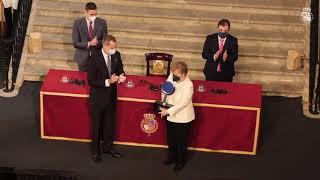 """Entrega de la XIV edición del """"Premio Europeo Carlos V"""", otorgado a la Excma. Sra. Angela Merkel, Canciller de la República de Alemania"""