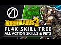 BORDERLANDS 3 | All FL4K Pets, Action Skills, Perks & Abilities + Full Skill Tree Breakdown