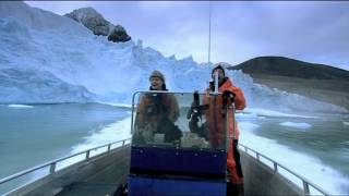 Arctic Glacier collapses . Too close for comfort