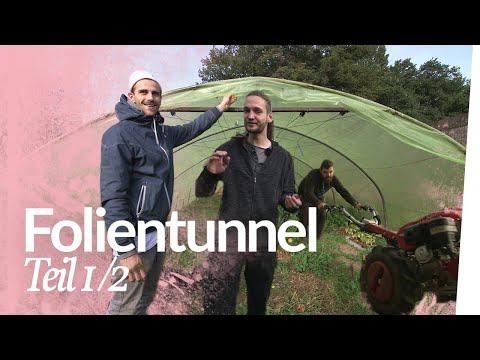 Folientunneltür bauen / Folientunnel winterfest machen 1/2 | Kliemannsland