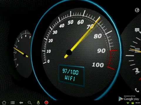 Video of 3D Speedometer Live Wallpaper