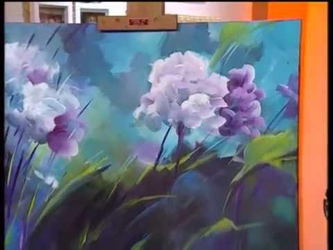 MONITOR | Gabriela Mensaque pintando flores con Acrílicos Profesionales Lautrec | Manos a la Obra