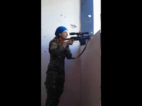 Female Kurdish Sniper Laughs After Nearly Being Head Shot By ISIS ...