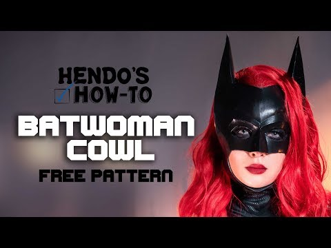 How-To: BATWOMAN COWL with FREE PATTERN Cheap and Easy