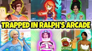 DISNEY PRINCESSES STUCK IN WRECK IT RALPH 2 ARCADE (Elsa, Vanellope, Tiana, Belle, Anna and Jasmine)