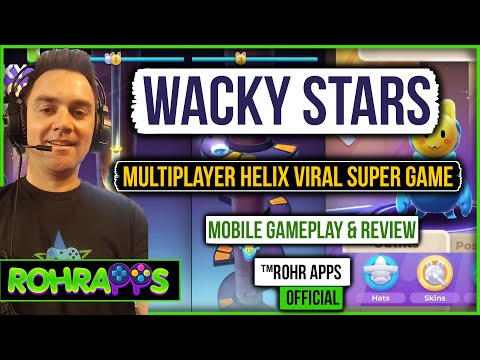 WACK STARS- Multiplayer helix viral super game | mobile gameplay and review |™ROHR APPS OFFICIAL