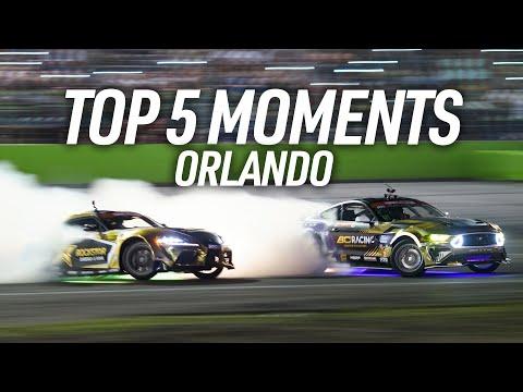 フォーミュラドリフト オーランド(フロリダ)追走ドリフトの中からBest5を選んだダイジェスト動画 PRO