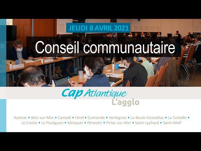 Conseil communautaire du 8 avril 2021