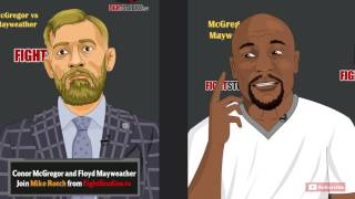Conor McGregor vs Floyd Mayweather Pre-Fight Interview - feat. Nate Diaz