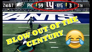 FUNNY MADDEN 18 ONLINE FRANCHISE BLOWOUT WIN!!
