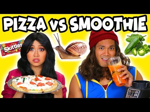 Pizza vs Smoothie Challenge - Descendants Lonnie and Jay. Totally TV