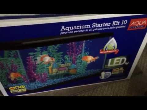 aqua culture aquarium starter kit 10 unboxing