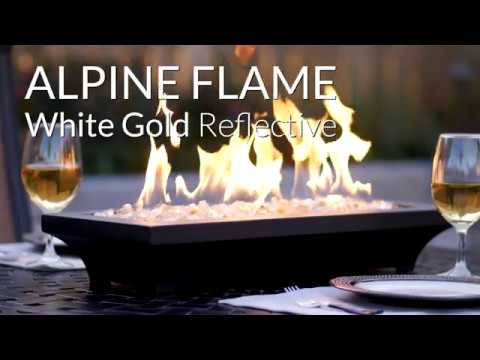 Alpine Flame White Gold Reflective Fire Glass