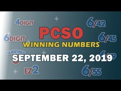 [ABS-CBN]  P191M Jackpot Ultra Lotto 6/58, EZ2, Suertres and Superlotto 6/49   September 22, 2019