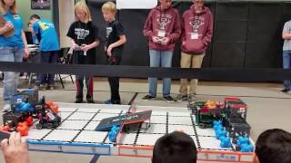 February 25, 2017 Tournament at Fall River Elementary – Qualifying Match with Berthoud Robotics Club's Team 1069G (V.I.N.CENT)