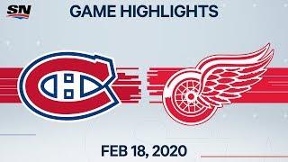 NHL Highlights   Canadiens vs Red Wings – Feb. 18, 2020