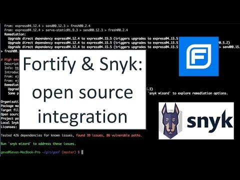 Open Source Integration: Fortify SSC and Snyk (2019)