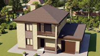 Проект дома 155-A, Площадь дома: 155 м2, Размер дома:  13,3x10,5 м