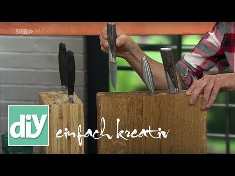 Messerblock aus Buchenholz | DIY einfach kreativ