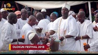 OONI OF IFE CALLS DOWN RAIN AT WORLD OLOKUN FESTIVAL 2018 IN ILE IFE