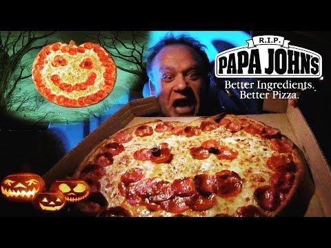 Papa John's NEW! ☆Jack O'Lantern Halloween Pizza☆ Food Review!!!