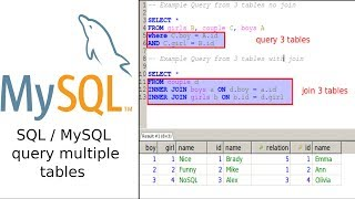 SQL select from multiple tables(two and more)
