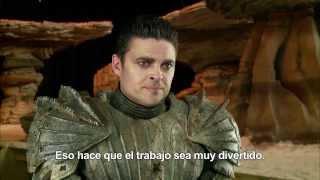 """Karl Urban """"RIDDICK"""" interview on set (Spanish subs)"""