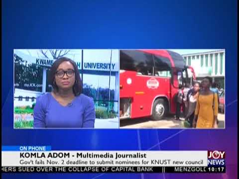 KNUST Impasse - News Desk on JoyNews (5-11-18)
