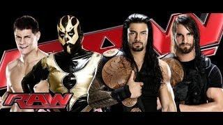 Cody Rhodes and Goldust vs The Shield Tag Team Championship - WWE RAW 10/14/13