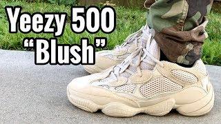 "adidas Yeezy Desert Rat 500 ""Blush"" on feet"