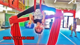 6 YEAR OLD AVA DOES CRAZY FLEXIBLE AERIALIST MOVES!!!
