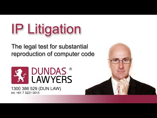 Has my software been copied? – the legal test video