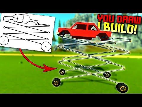 Whatever You Draw, I Build It! [YDIB 4] - Scrap Mechanic Gameplay